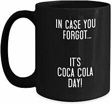 Coca Cola Day Neuheit schwarze Kaffeetasse lustige