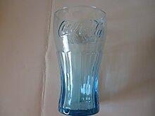 Coca Cola Füllfederhalter Glas kobalt blau