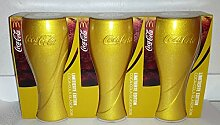 Coca-Cola / Glas/Gläser / 3er Set/Gold/Limitierte