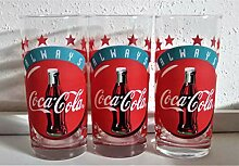 Coca-Cola / Glas Gläser/Retro/Original/Always /