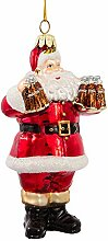 Coca-Cola Kurt Adler Glas Santa Ornament, 12,7cm
