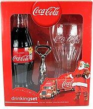 Coca Cola Trinkset – 330 ml Colaflasche,