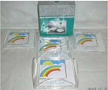 Cocktail Napkin Coaster Set with Holder by