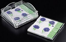 Cocktail Napkin Coaster Set with Holder by Acrylichomedesign
