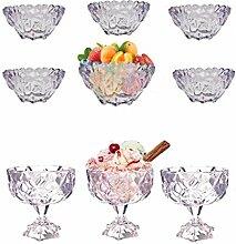 Cocktail-Obst Eiscreme Dessert Kristallglas Schale