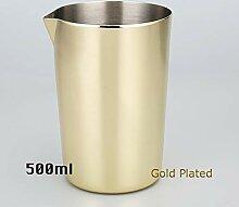 Cocktail Shaker Edelstahl-Rührglas 500 ml, von