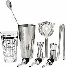 Cocktail-Shaker, Edelstahl, verchromt, 14 Stück