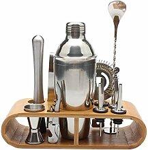Cocktail-Shaker-Set, 750 ml/550 ml, Rührlöffel,