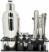 Cocktail Shaker Set, Mit Weinregal 11Pcs 750ml /