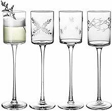Cocktailglas mit High Heels und Bleifreiem Stiel,