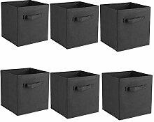 Cocoarm 6 Stück Faltbare Aufbewahrungsbox Faltbox