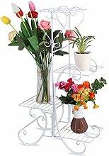 Cocoarm Eisen Pflanzenständer Blumentreppe