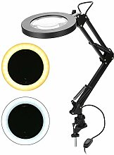 Cocoarm LED-Lupenlampe 5X Lupen-Schreibtischlampe