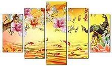 COCOCI 5 Panel Leinwand Bild 5 Teilig Lucky Feng