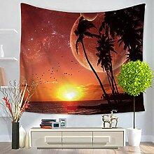 Coconut Bäume Tapisserie–memorecool Haustierhaus hochwertigem Polyester Schöne Landschaft Design Home Decor 149,9x 129,5cm, Polyester, tree4, 59x51inch