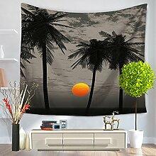 Coconut Bäume Tapisserie–memorecool Haustierhaus hochwertigem Polyester Schöne Landschaft Design Home Decor 149,9x 129,5cm, Polyester, tree6, 59x51inch