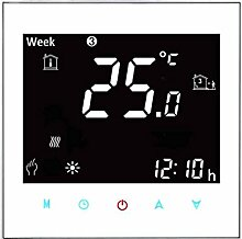 coconut Blitzschutz Negative anzeigen Programmierbare LCD-Touchscreen Elektroheizung Thermostat NTC-Temperaturregler