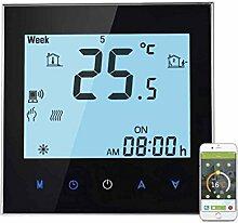coconut Touchscreen-Wochenprogramm WiFi Regelthermostat Elektroheizung Temperaturregler 16A Fernbedienung