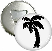 Coconut Tree Pflanze schwarz Silhouette rund