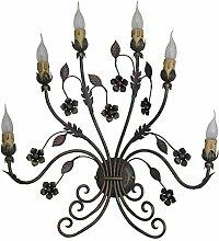 COD.40166–Kronleuchter Beleuchtung für Innen Apliques Wandleuchte aus Schmiedeeisen hergestellt in Italien von valastrolighting