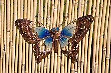 Coen Bakker Schmetterling Glow in the Dark Metall Wand Deko Kupfer Garten Wandschmuck Falter, Farbe:Blau