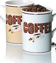 COFFEE Kaffeebecher Doppelset