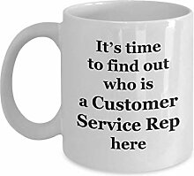 Coffee Mug Customer Service Rep Funny - Gifts for