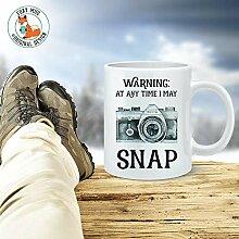 Coffee Mug Gift For Photographer - Warning At Any
