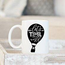 Coffee Mug Let'S Travel The World - Hot Air