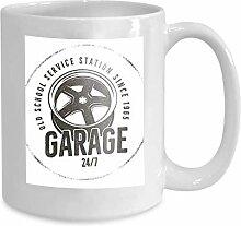 Coffee Mug Tea Cup Home Garage Old School Service