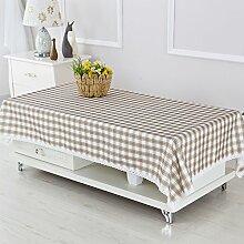 Coffee Table wasserdichte Tischdecken/ längliche Tischdecke/ Schuh-Abdeckung-Handtuch/Tuch/Tischsets/ Tischtuch/ Wasser und Öl Beweis Tischdecke-C 110x160cm(43x63inch)