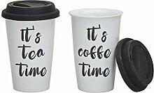 Coffee to go Becher 2er Set für Kaffee und Tee