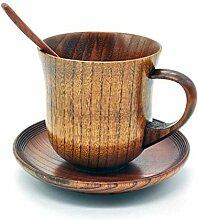 Coffee To Go Becher,3 Stück/Set Holztasse