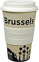 Coffee to-go Becher 'Cruising Travel Mug City' - aus Bambusfasern und Mais, Farbe:Brussels