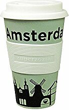 Coffee to-go Becher 'Cruising Travel Mug City' - aus Bambusfasern und Mais, Farbe:Amsterdam