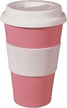 Coffee to-go Becher - aus Bambusfasern und Mais, Farbe:Lollipop Pink
