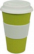 Coffee to-go Becher - aus Bambusfasern und Mais, Farbe:Willow Green