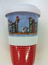 Coffee-to-go-Becher aus Porzellan mit hochwertigem