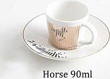 Coffee To Go Becher,Creative Leopard Anamorphic