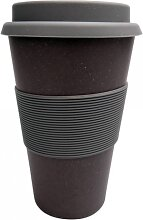 Coffee TO GO  Becher H. 15cm Ø 8cm schwarz grau Bambus Magu NATUR DESIGN (7,95 EUR / Stück)