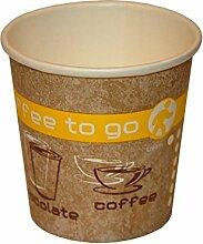 Coffee to Go Becher, Heißgetränke Pappbecher,