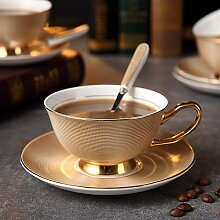 Coffee To Go Becher,Luxus Gold Bone China