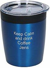 Coffee to Go Edelstahl Becher Personalisierter