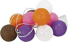 Cogex 493356Kugel Lichterkette 10LED Kunststoff/Polyester Mehrfarbig