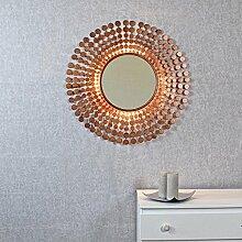 coinbase Antik Kupfer Sunburst Licht Wandspiegel