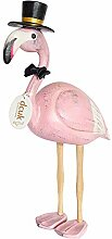 Coingallery DCUK Flamingos Perlen mit Federn, Hut,
