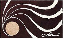 Colani Moderner Designer Badematte Braun 60x100 cm