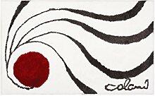 Colani Moderner Designer Badematte Weiß 60x100 cm