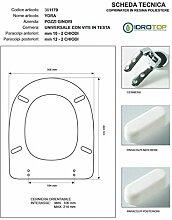 Colbam Pozzi Ginori Ydra WC-Sitz, Weiß, Chrom