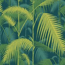 Cole & Son Palm Jungle Tapete Petrol Lime (l) 1000